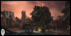 Environment #4 - Destroyed Village by BistroD