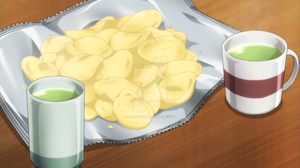 Chips and green tea by A-zeldafan95