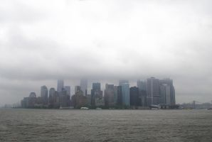 View of NY, Staten Island ferry 03 by LucieG-Stock