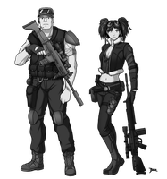 Post Apocalyptic Character Designs by Blazbaros