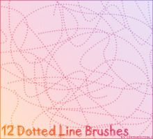 12 Dotted Line Brushes by contradictz