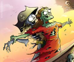 Zombie Pirate Lurv by flinx