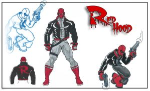 Red Hood Sheet by ajb3art