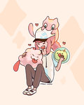 Princess Bubblegum and pkmn by spaded-square