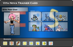 I.B.S Trainer Card - Clair by JonicOokami7