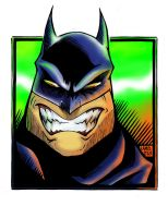 Angry Batman Coloured by Limbo4ever