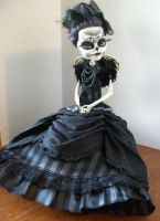 Monster High Custom Day of the dead skelita by AdeCiroDesigns