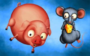 Pig And Rat by rezahales