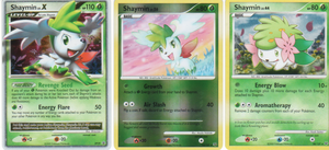 My three Shaymin cards by ShayminX