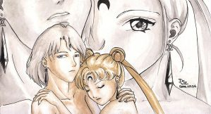Prince Diamond and Usagi by Seeraholic