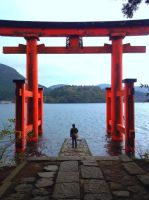 Me at Lake Ashi by angelac