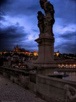 View from the Charles Bridge by pingallery
