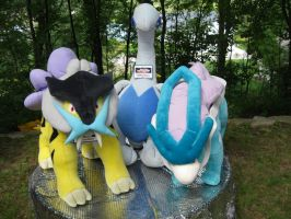 Giant Raikou And Suicune Lugia by Eternalskyy