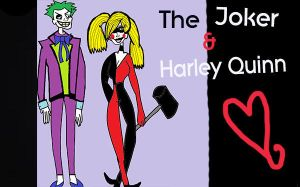 My Drawing of the Joker and Harley Quinn by MakeBelieveGirl18