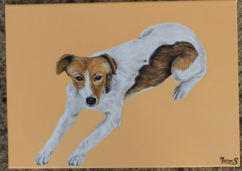 Dog painting by ManonSoyer