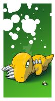 Agumon and the Little Bee by Shirozora