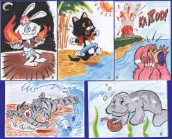 More Island Dreams Sketchcards by PlummyPress