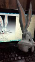BUGS BUNNY PAPERCRAFT BUILDING by darcrash