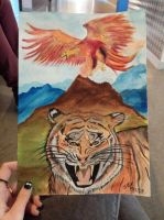Phoenix and Tiger by Mariestel