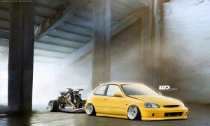 Honda Civic EK by WillCarDesign