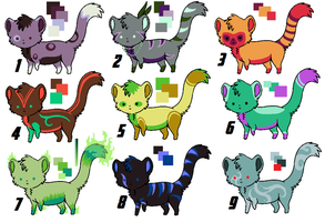 Kitten Point Adoptables (7/9 available) by AgentLaufeyson