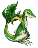 Realistic Snivy by limecakey