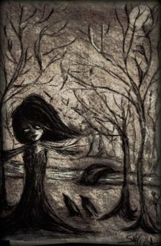 Diary Sketches: The Melancholy Forest by salvi-burton