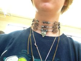 Cherokee inspired necklace by Goldfirewolf
