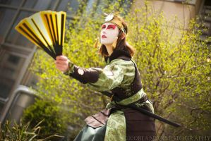 Kyoshi Warrior Suki: Tense by Syagria