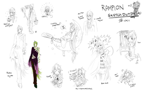 Rampion Sketch Dump 11-4-11 by ThreeWayDart