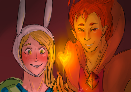 Love is on fire by Brixyfire