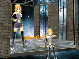 :MMD: Append Rin XS by PuniPudding