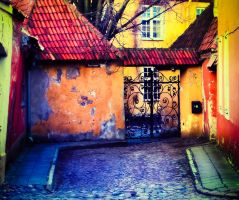 with colorful glasses in tallin by solis-sacredotibus