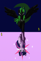 2 Sides to each story/Pursuit of Twilight Sparkle by Midnight-Devilwitch