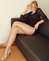 Hot blonde pantyhose legs by JLAvenger2