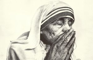 Mother Theresa by artistjerrybennett