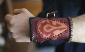 Horde Leather Cuff by VanLogan