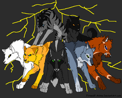Wolf Pack from my half finished series by Danny-Senpai