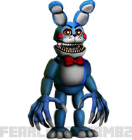 Nightmare Toy Bonnie by fearlessgerm82