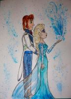 Frozen: Elsa and Hans by EdithSparrow
