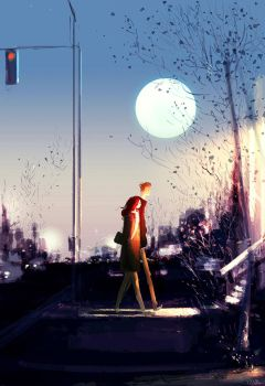 Early moon. by PascalCampion