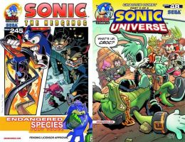 Sonic the Hedghog #245 and Sonic Universe #48 by RocketSonic