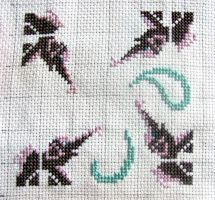 [WIP #1] Elephant Biscornu ~cross stitch~ by snowyMelon