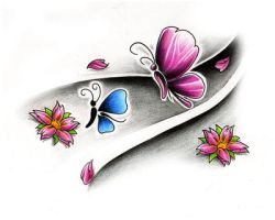 butterfly tat design by WillemXSM