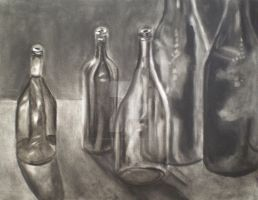 Glass Bottle Still Life by peanutbuttahhh