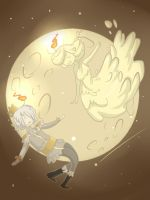 Two candles on the moon by BandaDai