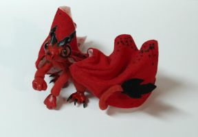 Red Dragon Posable Art Doll- For Sale by superayaa