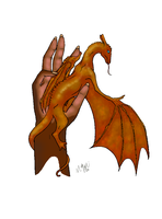 Hand Dragon by toast4nat