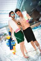 Pool Party Graves and Draven by QTxPie
