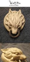 Cloud's Wolf Pin by leodragon42